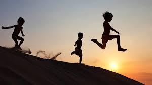 running sand dune
