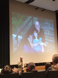 "Jim Howe and his daughter. ""A seed for a book is very often a question."""