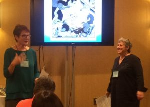Mary E. Cronin & Bonnie Jackman present at the New England SCBWI conference.